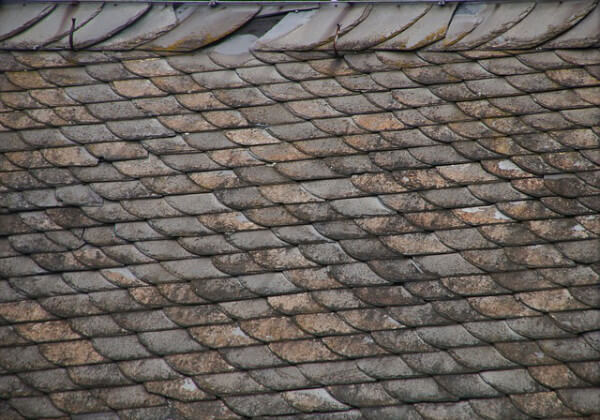 roof with broke slate